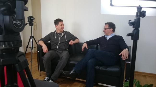Fritz Jergitsch mit Axel Zuschmann bei E&P Am Sofa