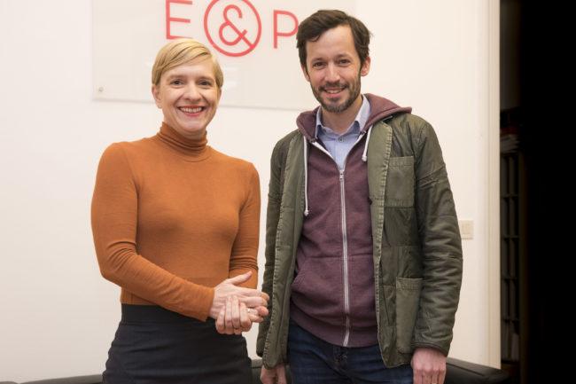 Nicole Bäck und Klaus Schwertner beim E&P Business Breakfast, (c) Kurt Keinrath