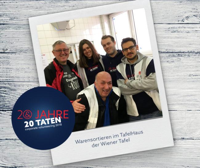 20 Jahre 20 Taten Waren sortieren für die Wiener Tafel