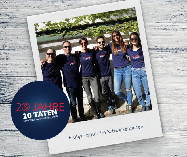 20 Jahre 20 Taten, Frühjahrsputz im Schweizergarten