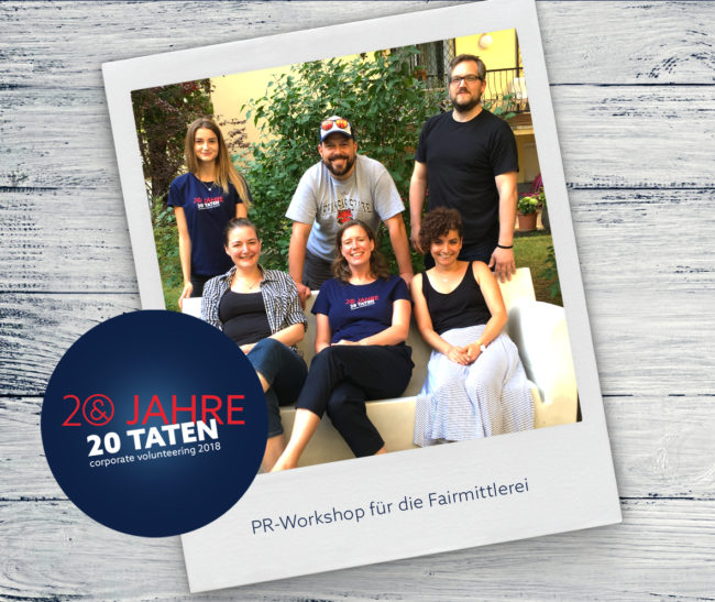 E&P 20 Jahre 20 Taten: Workshop Fairmittlerei