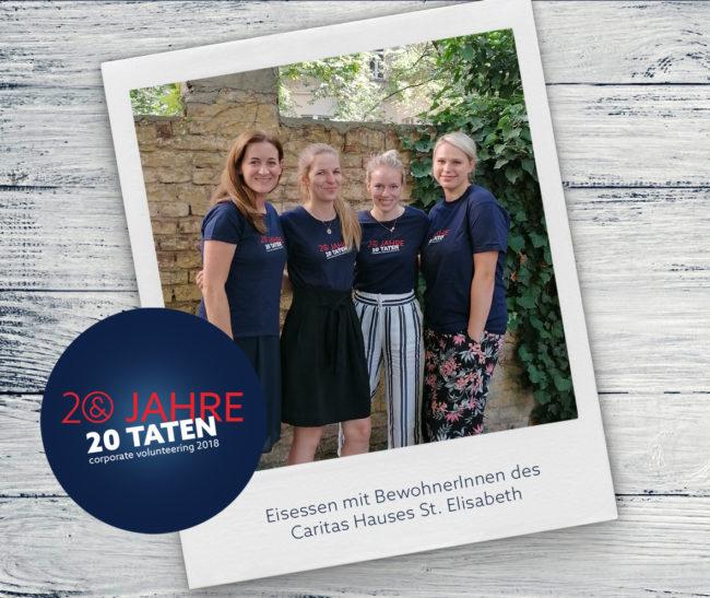 20 Jahre 20 Taten_Eisessen Caritas Haus St. Elisabeth