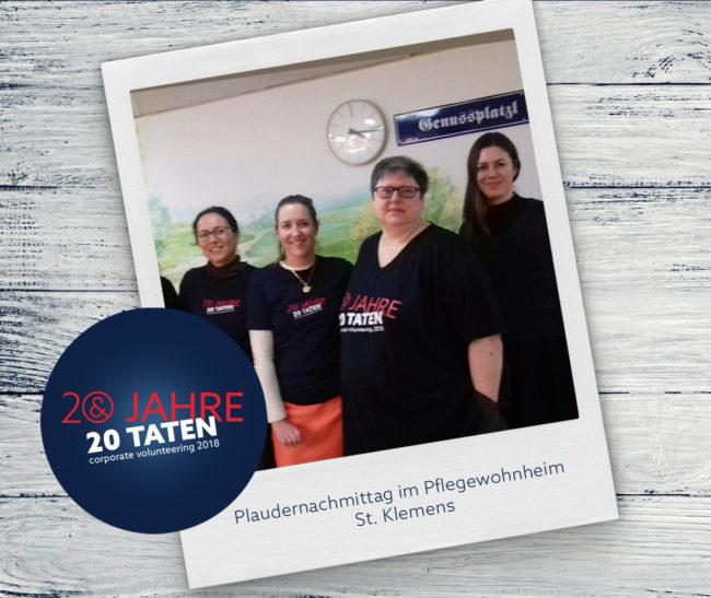 20 Jahre 20 Taten_Plaudernachmittag