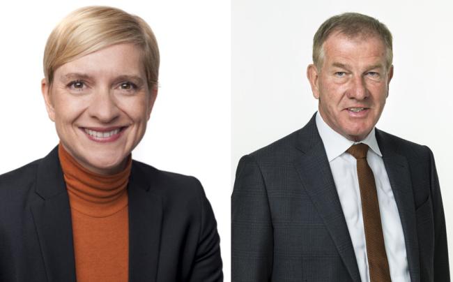 Nicole Bäck-Knapp (E&P), Reinhold Gütebier (kika/Leiner)